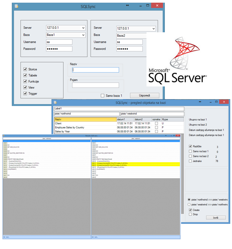 SQL Sync programsko rješenje